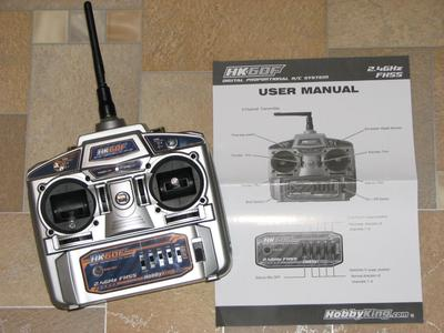 HobbyKing Radio HK6DF Transmitter & Manual